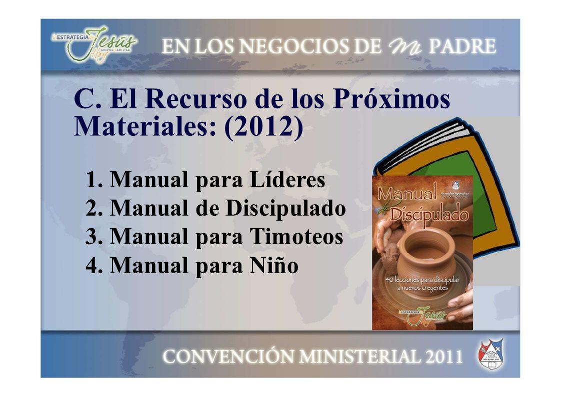 C. El Recurso de los Próximos Materiales: (2012)
