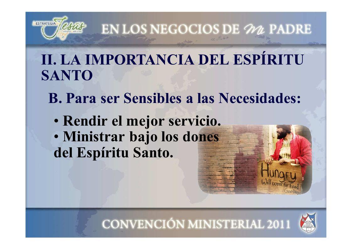 II. LA IMPORTANCIA DEL ESPÍRITU