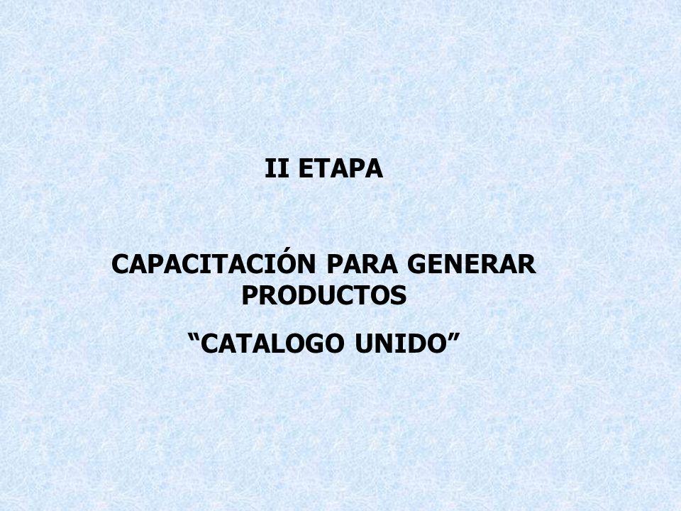 CAPACITACIÓN PARA GENERAR PRODUCTOS