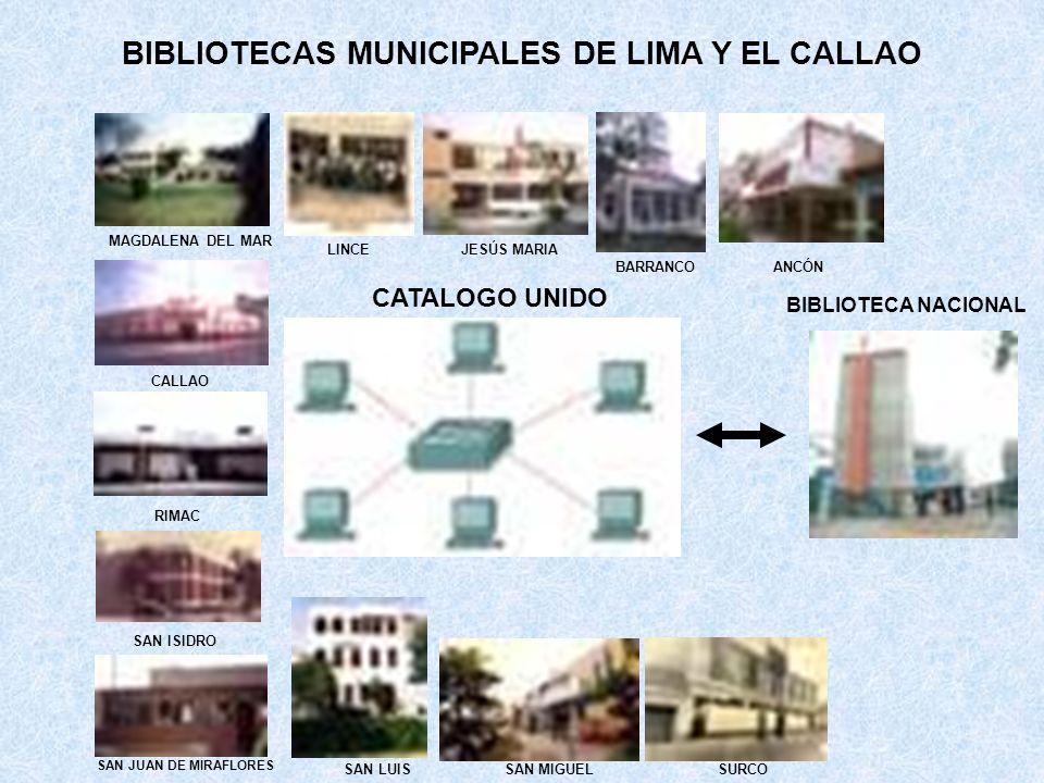 BIBLIOTECAS MUNICIPALES DE LIMA Y EL CALLAO