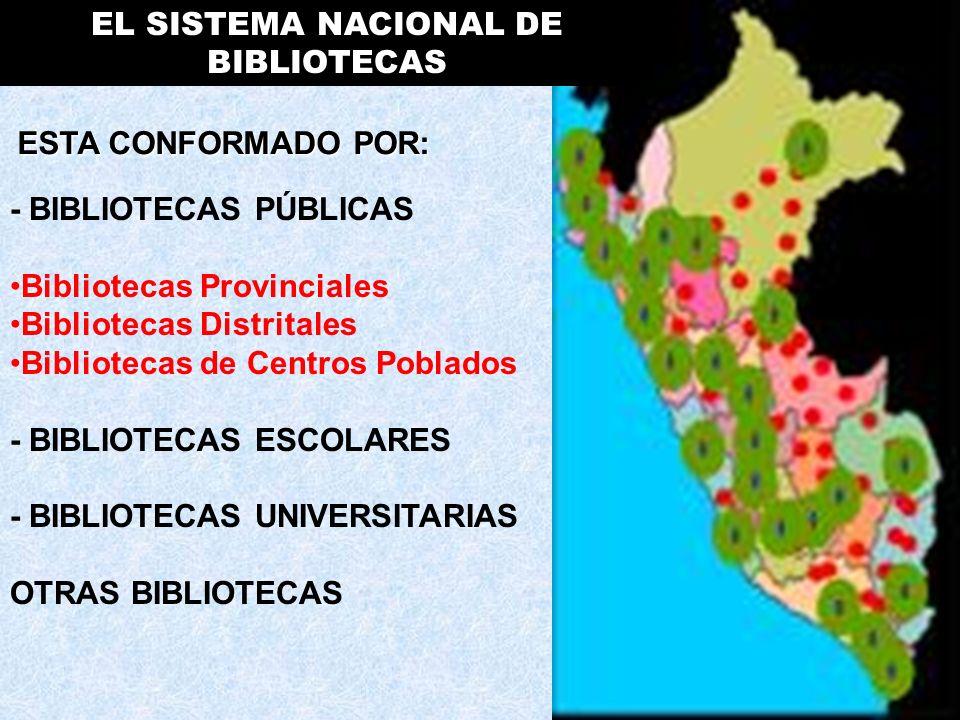 EL SISTEMA NACIONAL DE BIBLIOTECAS