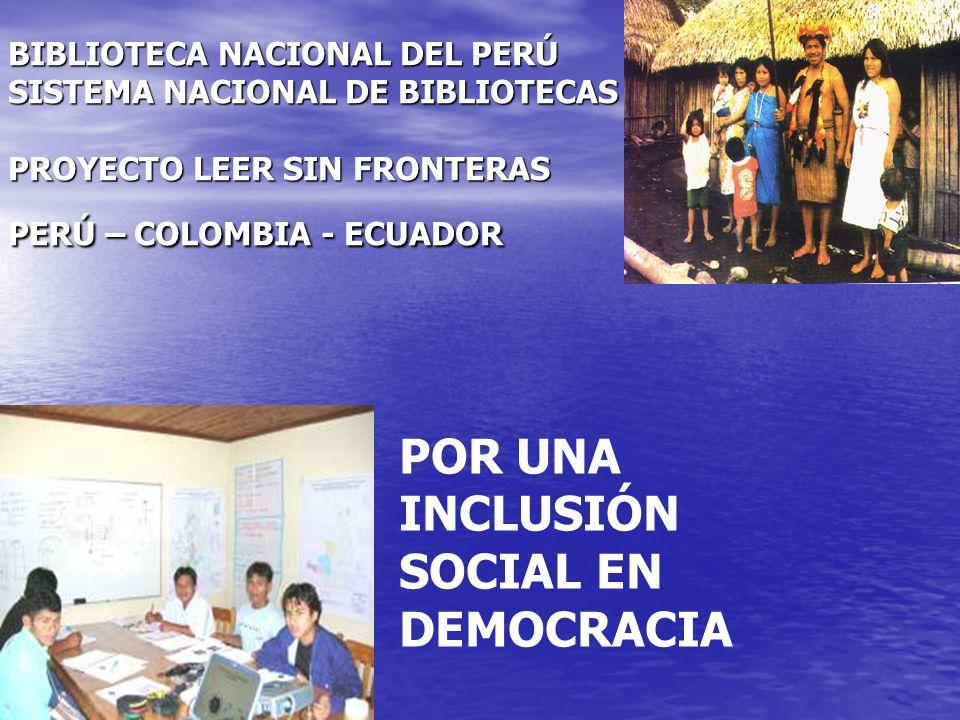 POR UNA INCLUSIÓN SOCIAL EN DEMOCRACIA