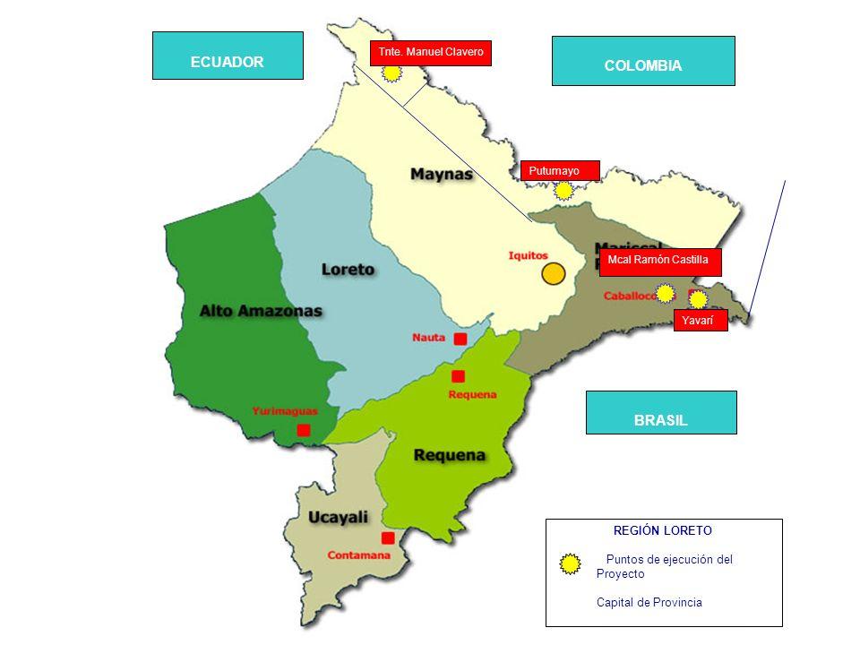 ECUADOR COLOMBIA BRASIL