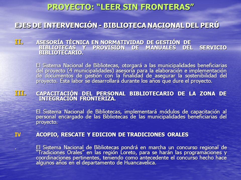 EJES DE INTERVENCIÓN - BIBLIOTECA NACIONAL DEL PERÚ