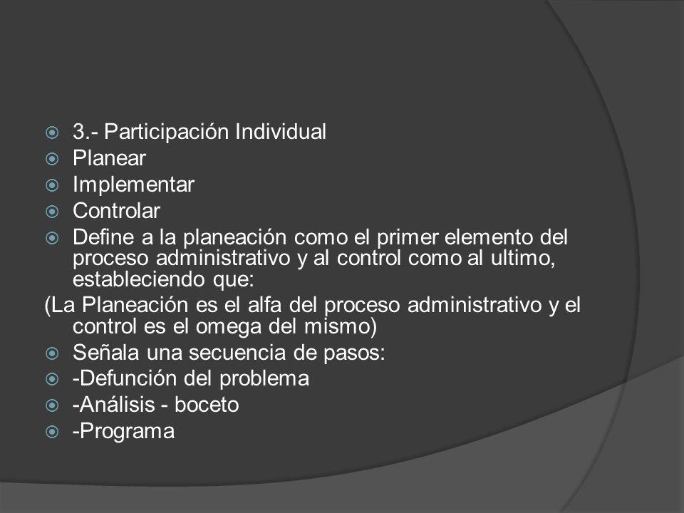 3.- Participación Individual