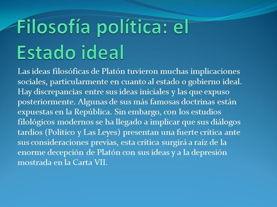 Filosofía política: el Estado ideal