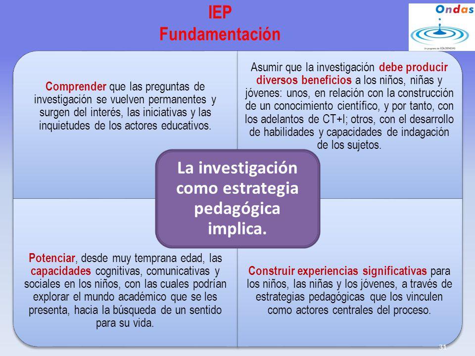 IEP Fundamentación