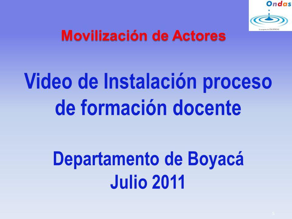 Video de Instalación proceso de formación docente