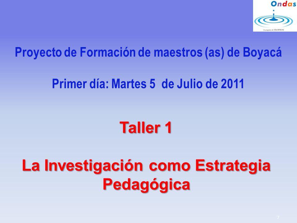 Taller 1 La Investigación como Estrategia Pedagógica