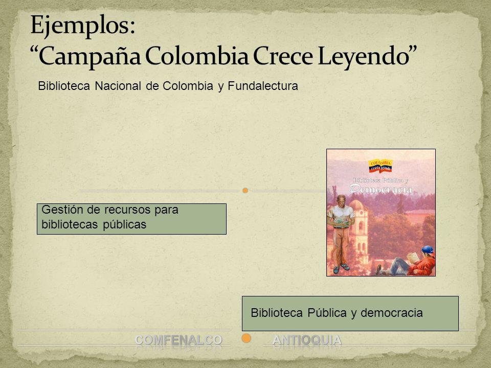 Ejemplos: Campaña Colombia Crece Leyendo