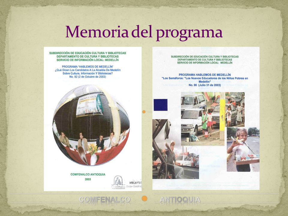 Memoria del programa