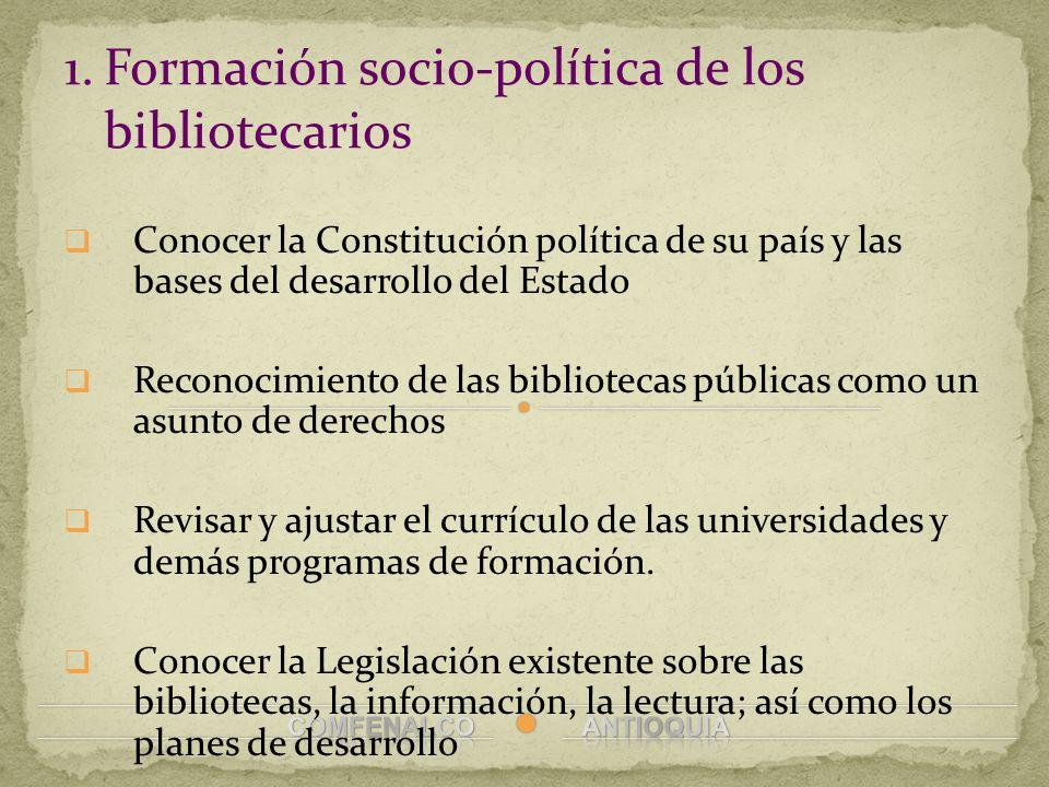 Formación socio-política de los bibliotecarios