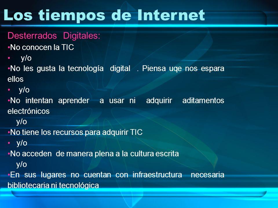 Los tiempos de Internet