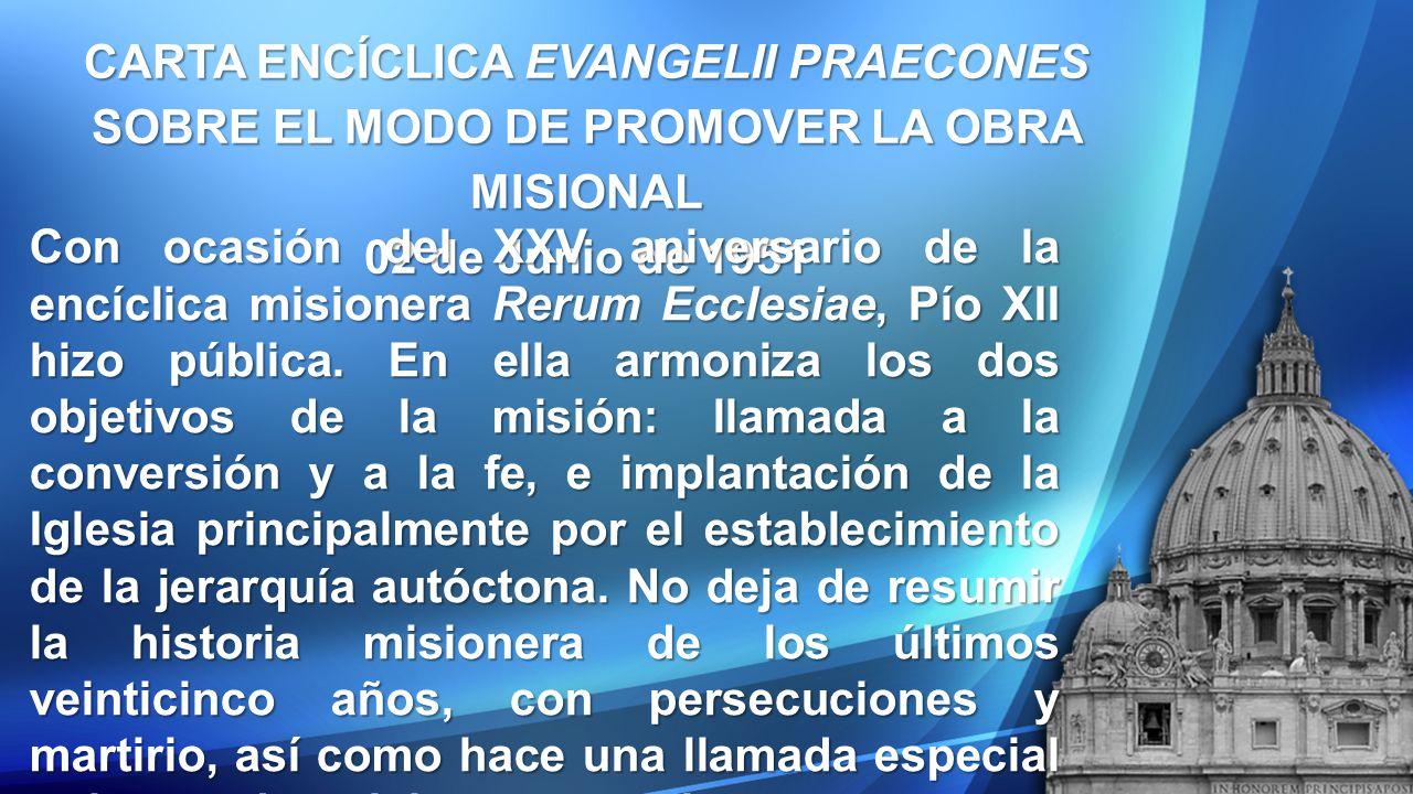CARTA ENCÍCLICA EVANGELII PRAECONES