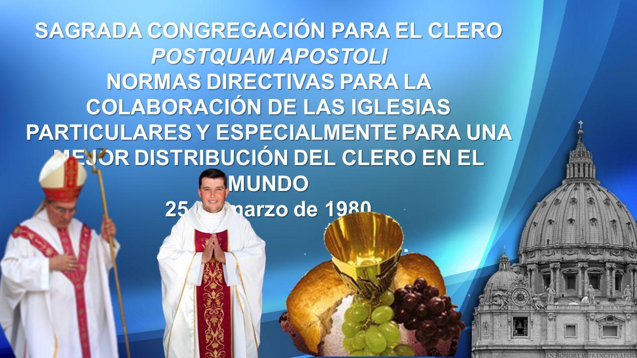 SAGRADA CONGREGACIÓN PARA EL CLERO