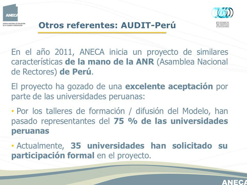 Otros referentes: AUDIT-Perú