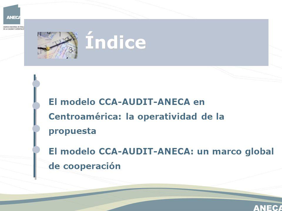Índice El modelo CCA-AUDIT-ANECA en Centroamérica: la operatividad de la propuesta. El modelo CCA-AUDIT-ANECA: un marco global de cooperación.