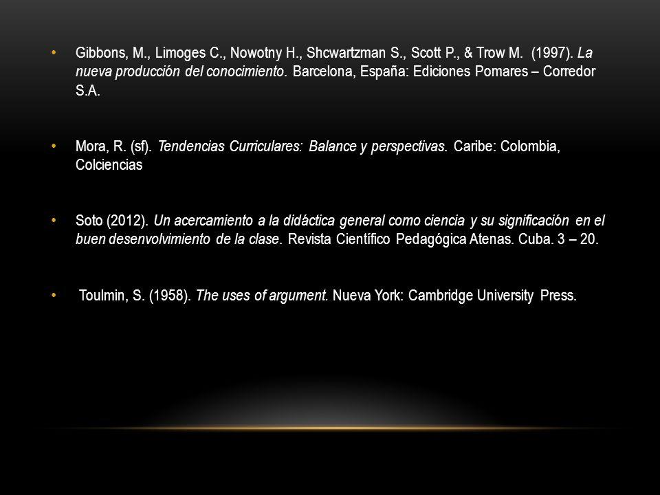 Gibbons, M. , Limoges C. , Nowotny H. , Shcwartzman S. , Scott P