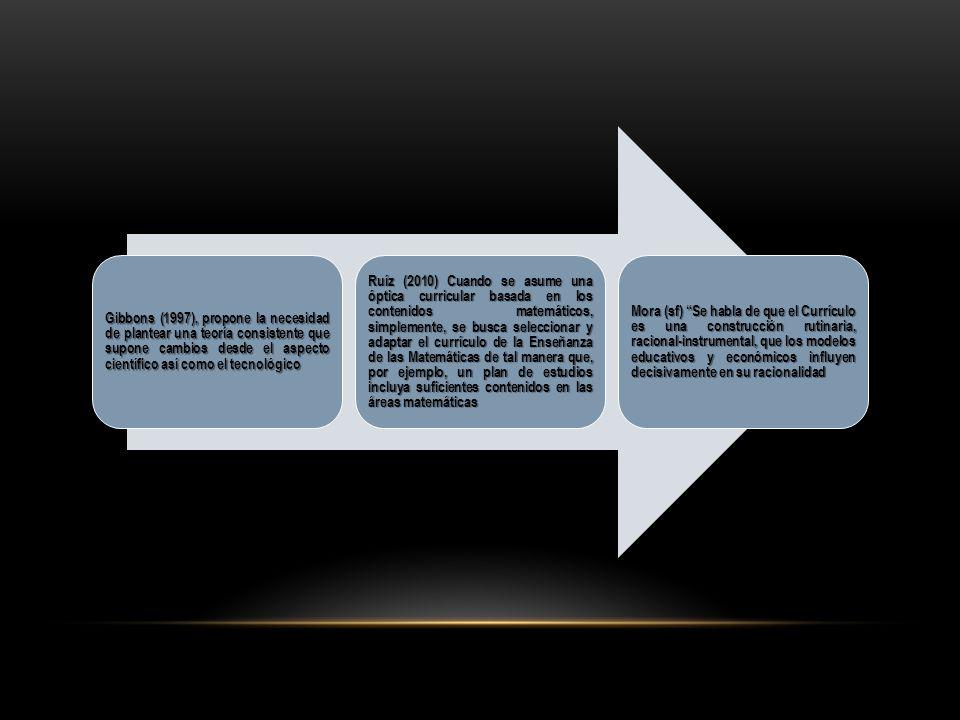 Gibbons (1997), propone la necesidad de plantear una teoría consistente que supone cambios desde el aspecto científico así como el tecnológico
