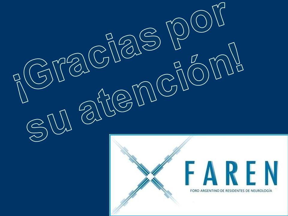 CONTACTO E-mail: faren2011@gmail.com. Grupo Neurologos en Formación en Web de la SNA. Facebook (FAREN): Foro Residentes Neurologia.