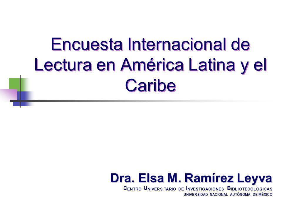 Encuesta Internacional de Lectura en América Latina y el Caribe