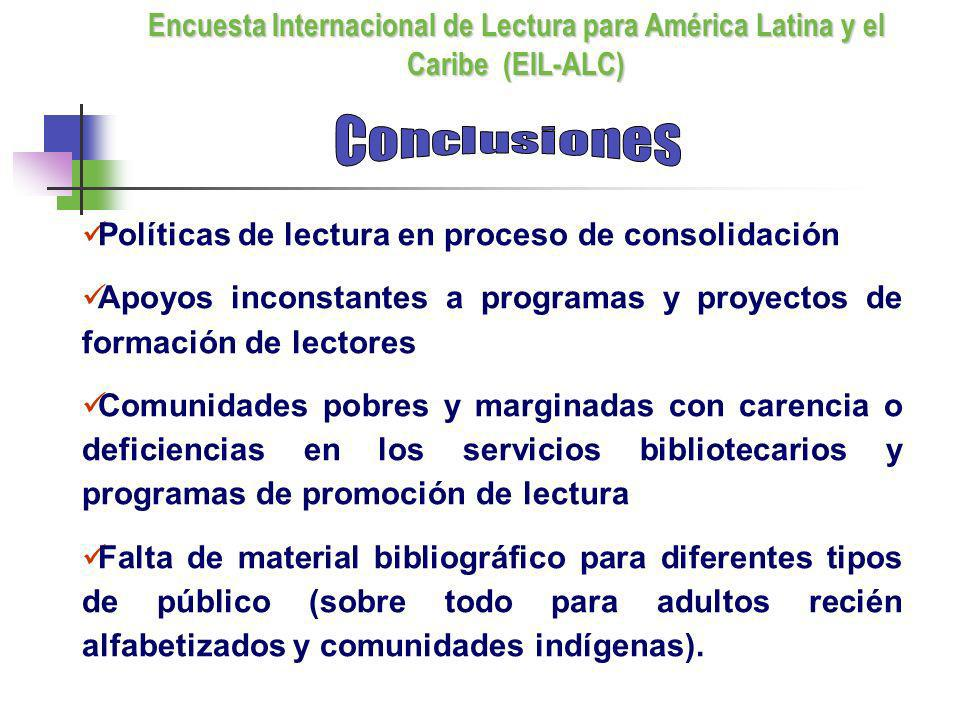 Políticas de lectura en proceso de consolidación