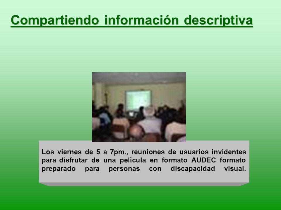 Compartiendo información descriptiva