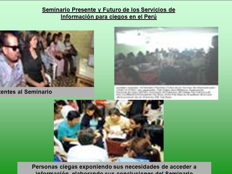 Seminario Presente y Futuro de los Servicios de Información para ciegos en el Perú