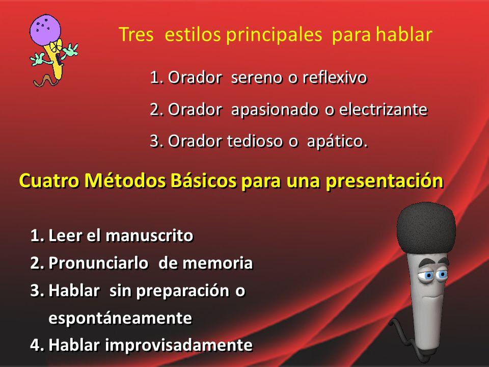 Cuatro Métodos Básicos para una presentación