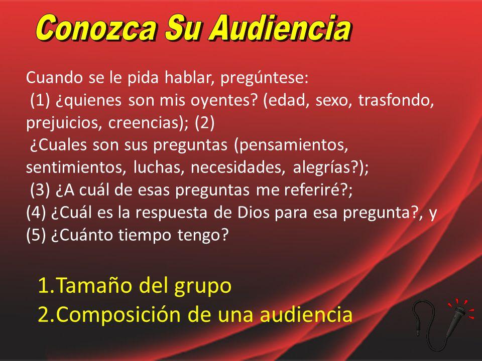 Composición de una audiencia