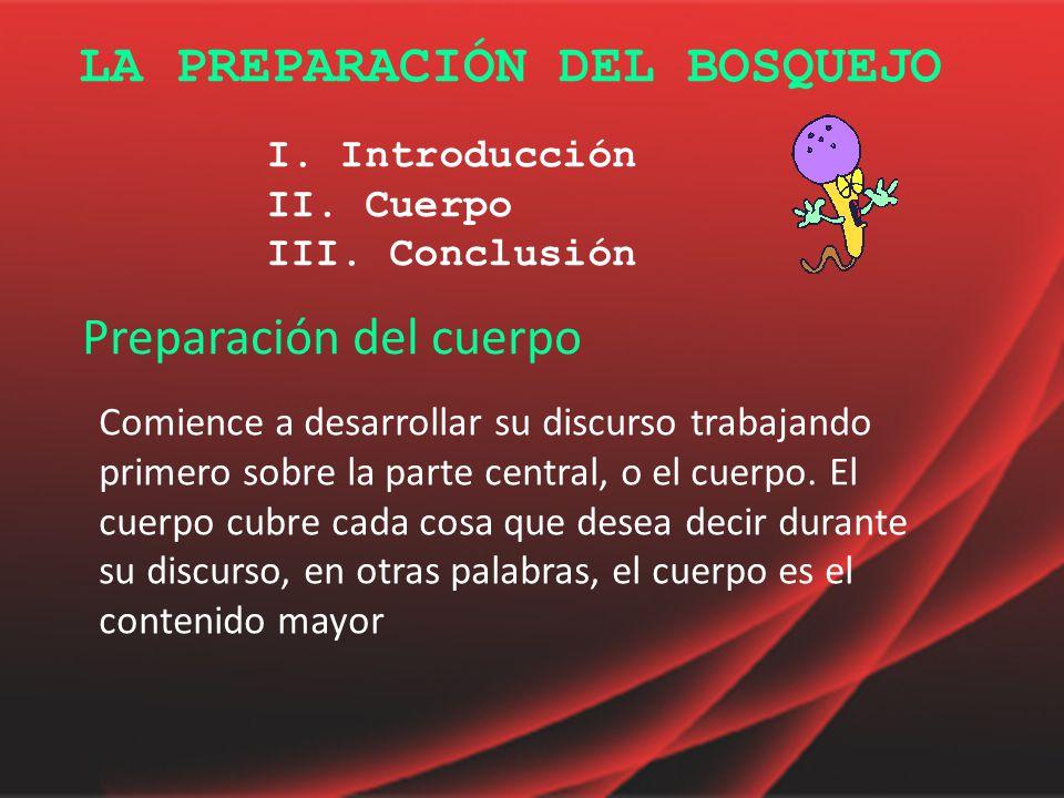 LA PREPARACIÓN DEL BOSQUEJO