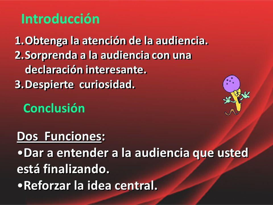 Introducción Conclusión Dos Funciones: