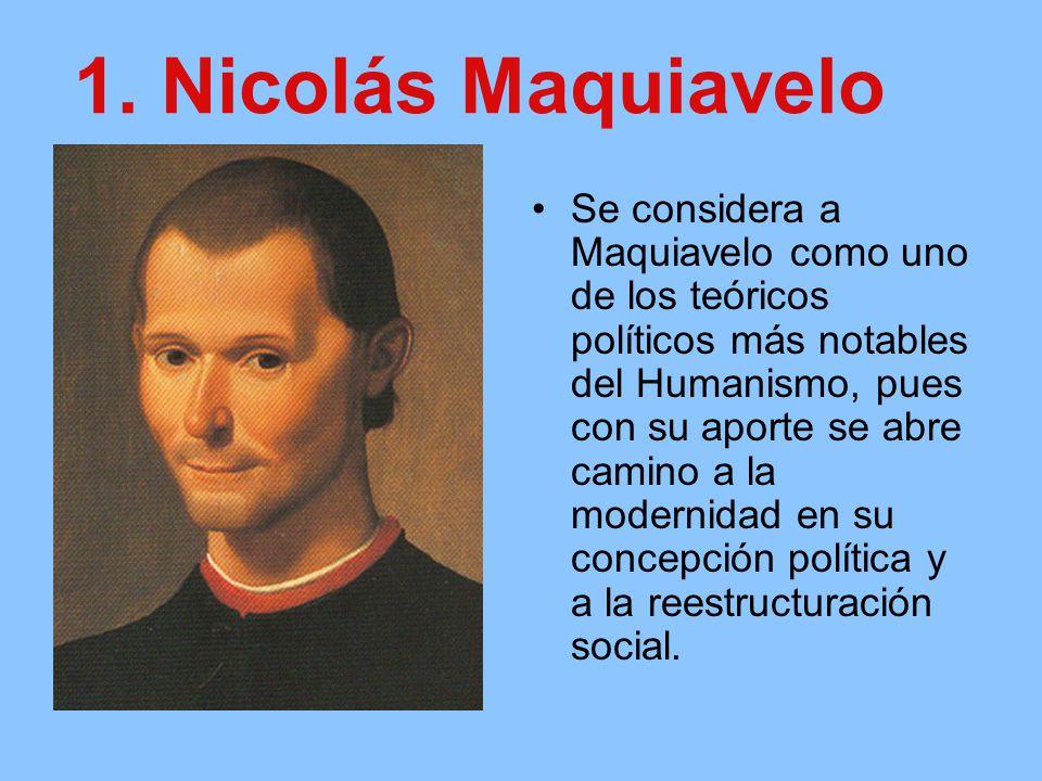 1. Nicolás Maquiavelo
