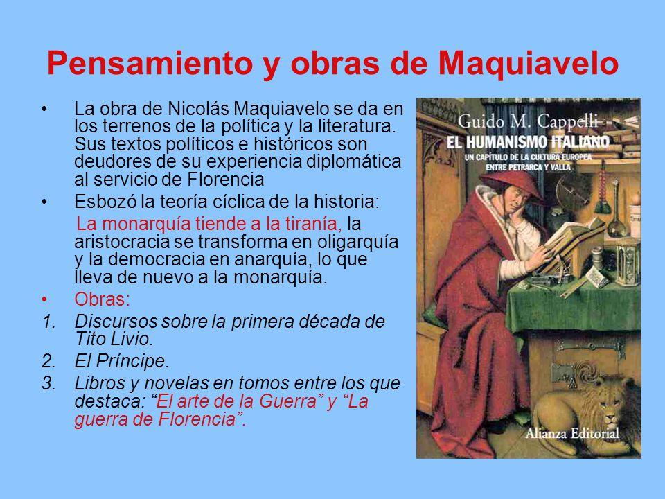 Pensamiento y obras de Maquiavelo