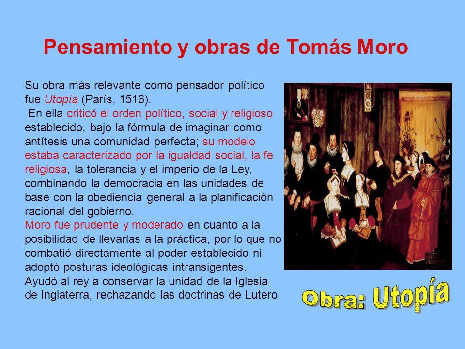 Obra: Utopía Pensamiento y obras de Tomás Moro