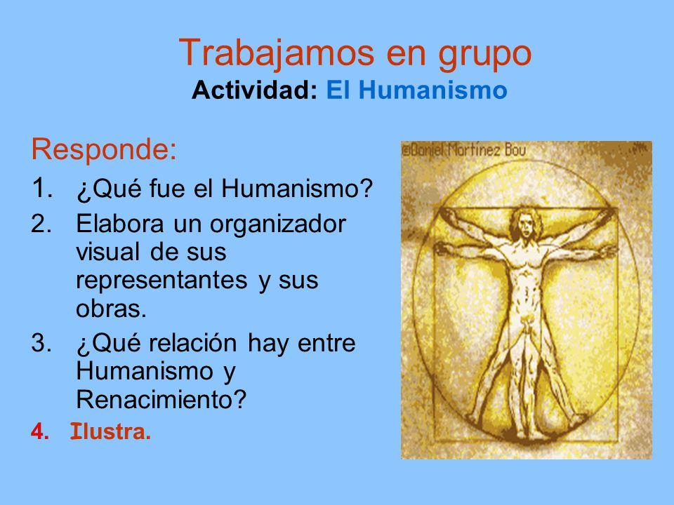 Trabajamos en grupo Actividad: El Humanismo