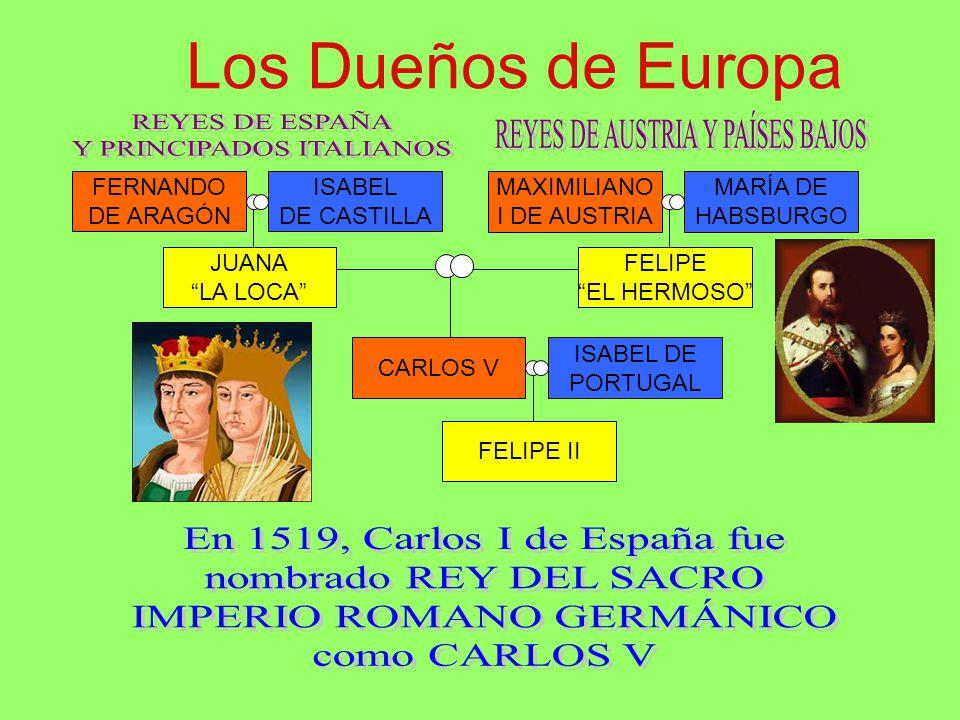 Los Dueños de Europa REYES DE ESPAÑA Y PRINCIPADOS ITALIANOS