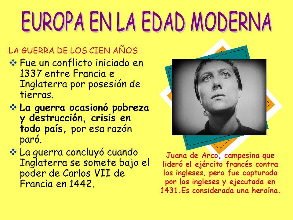 EUROPA EN LA EDAD MODERNA