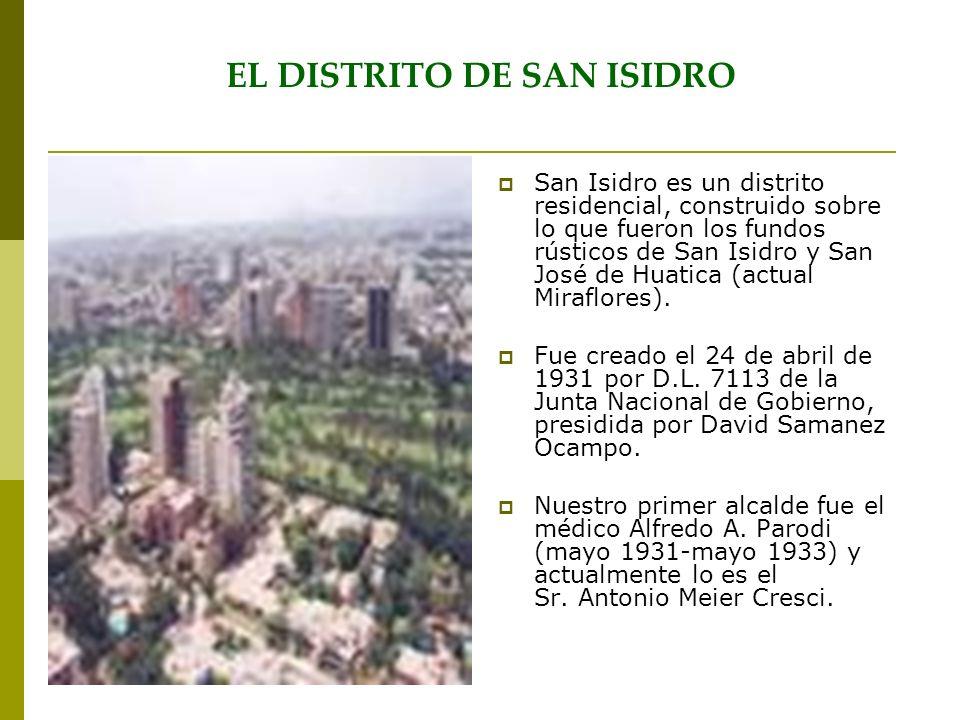 EL DISTRITO DE SAN ISIDRO