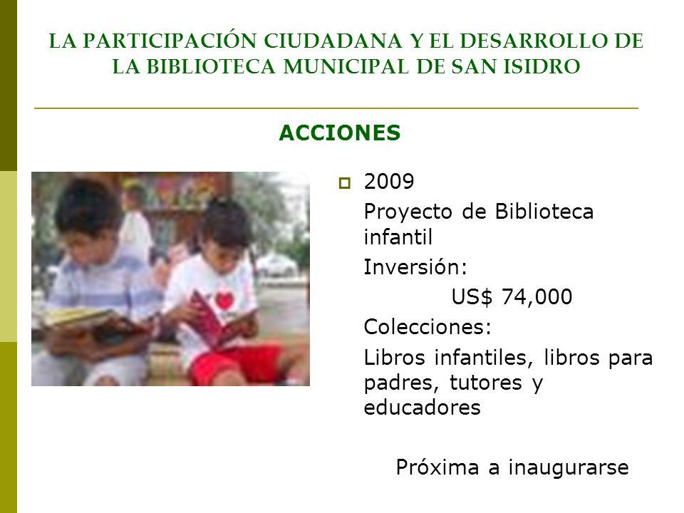 LA PARTICIPACIÓN CIUDADANA Y EL DESARROLLO DE LA BIBLIOTECA MUNICIPAL DE SAN ISIDRO