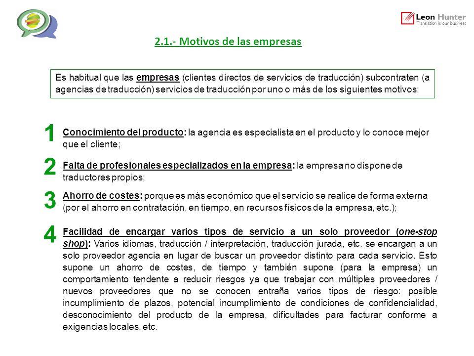1 2 3 4 2.1.- Motivos de las empresas