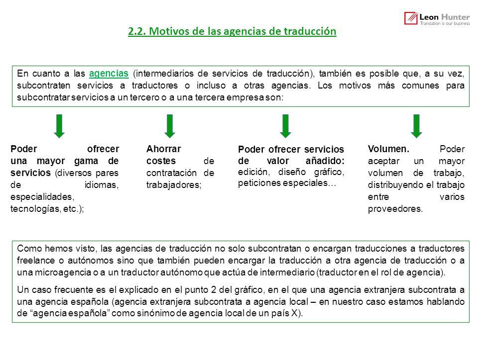2.2. Motivos de las agencias de traducción