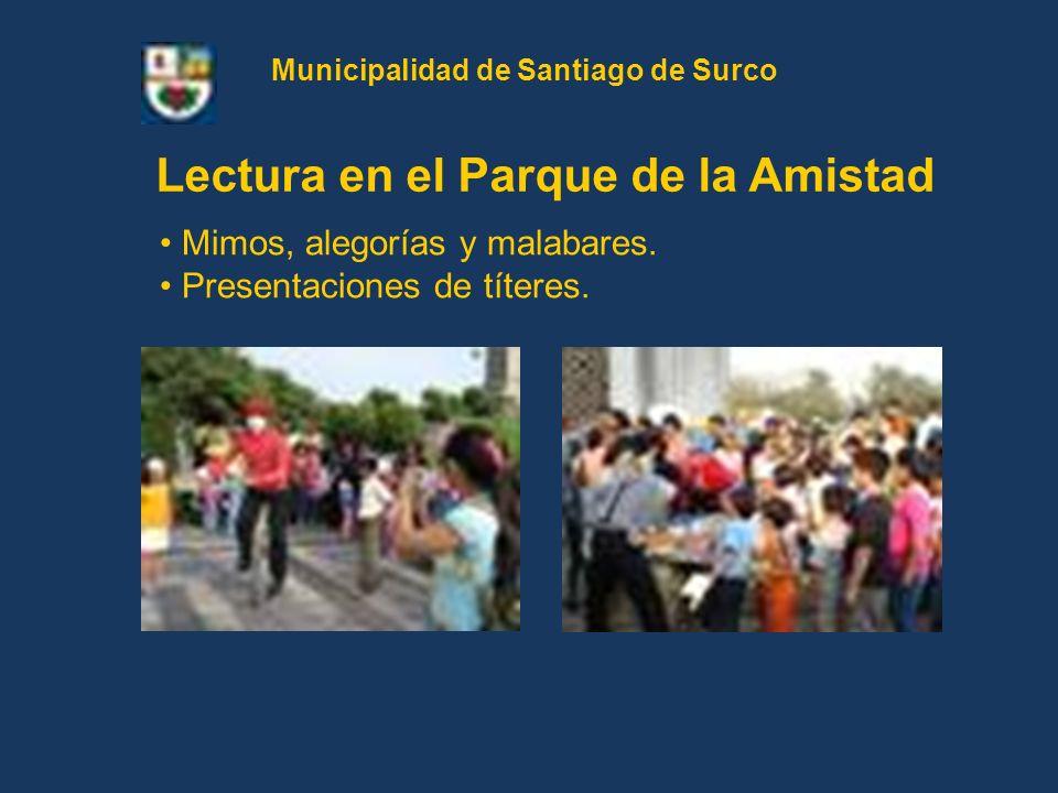 Municipalidad de Santiago de Surco Lectura en el Parque de la Amistad