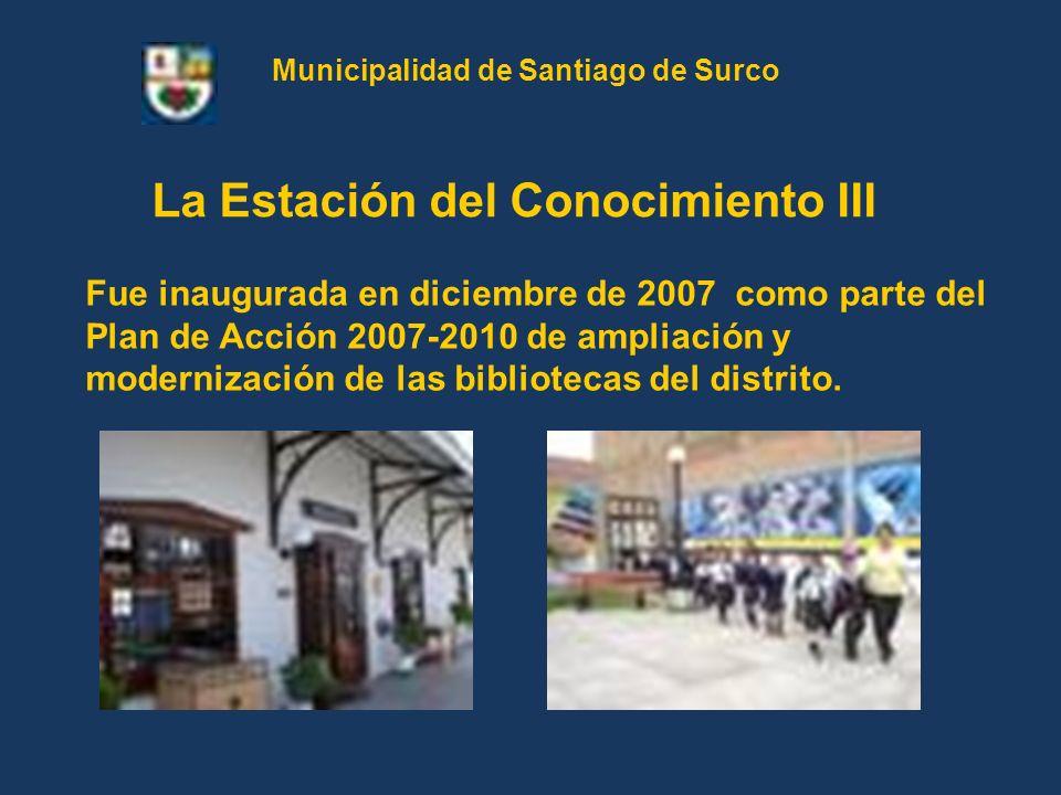 Municipalidad de Santiago de Surco La Estación del Conocimiento III