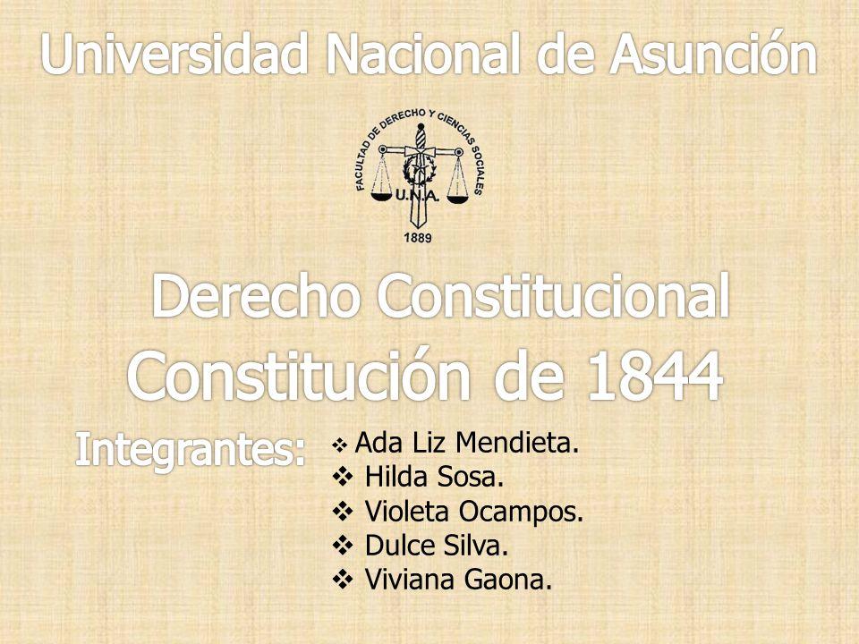 Constitución de 1844 Derecho Constitucional