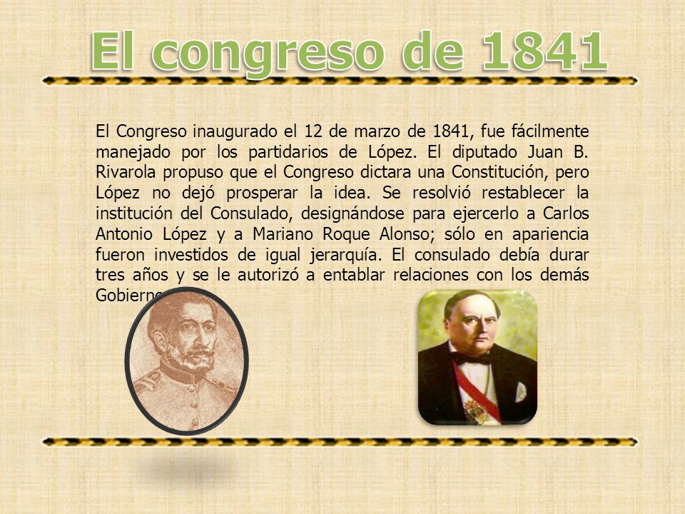 El congreso de 1841