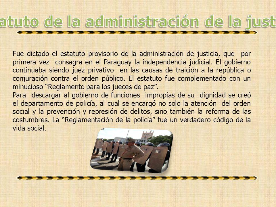 Estatuto de la administración de la justicia