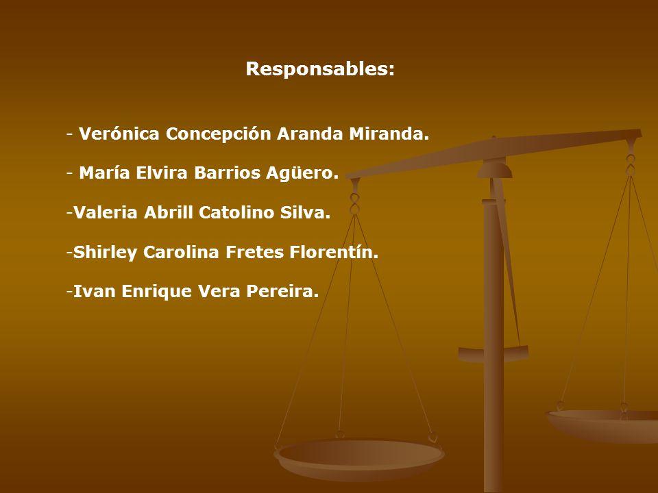 Responsables: Verónica Concepción Aranda Miranda.