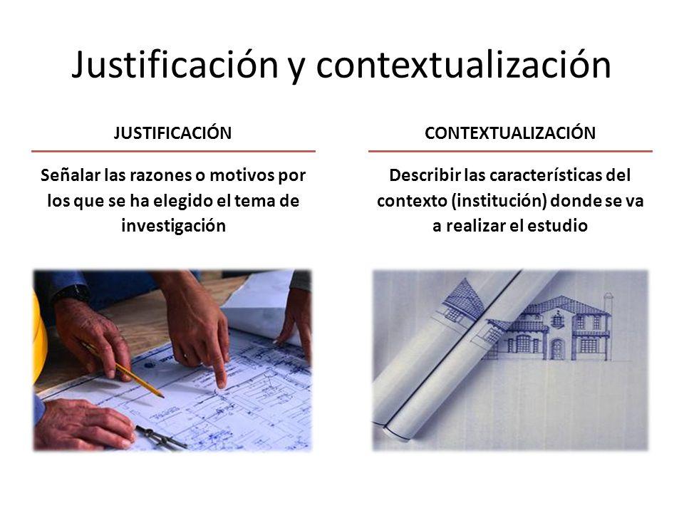 Justificación y contextualización