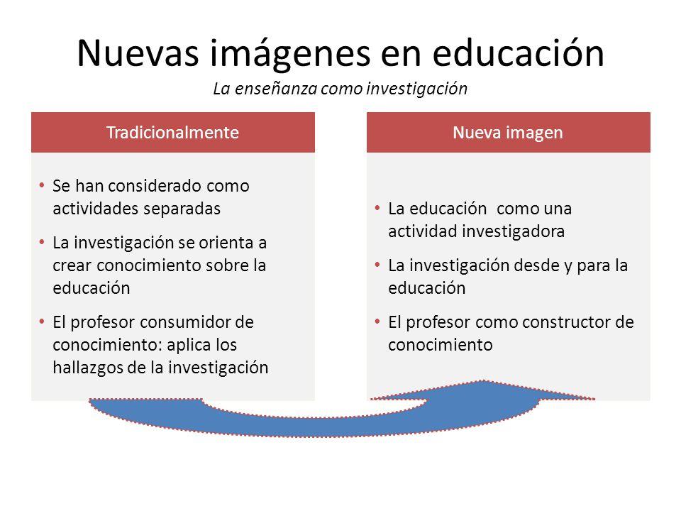 Nuevas imágenes en educación La enseñanza como investigación